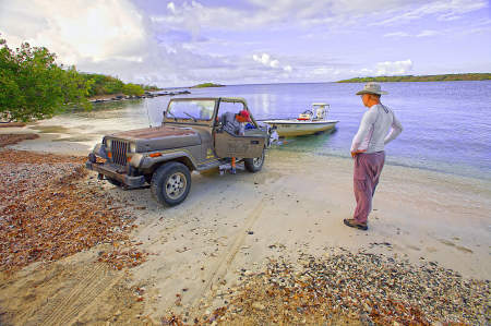 Fly fishing on the island of Vieques, Puerto Rico