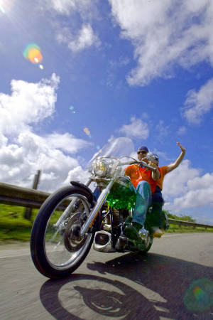 Motorcycling vacation on the island of St. Martin