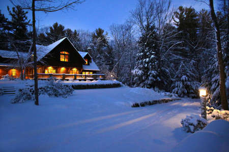 Log Cabin in NH, sold two years ago for $1.4 million.