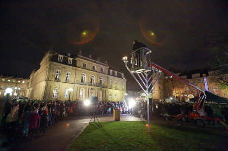 Hannukah in Stuttgart, Germany.