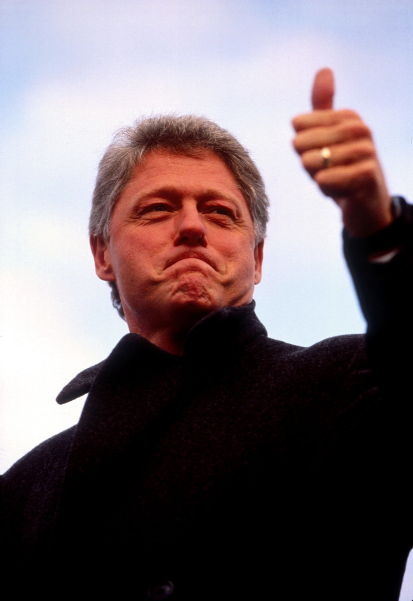 Candidate for president, Bill Clinton.