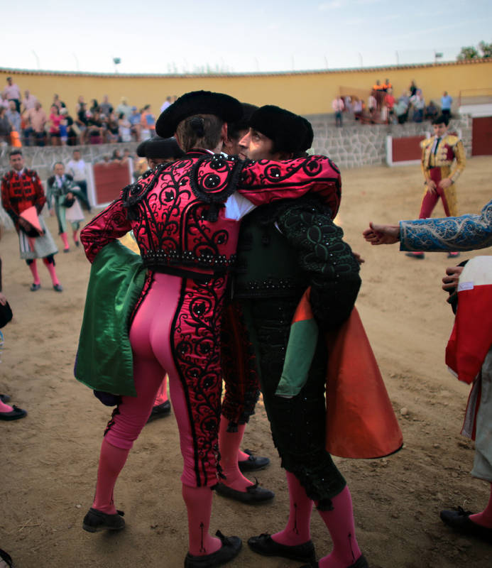 After the final corrida, the bullfighters bid their farewells...