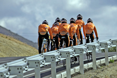 Euskaltel Euzkadi PRO cycling winter training camp. Calpe, Spain,