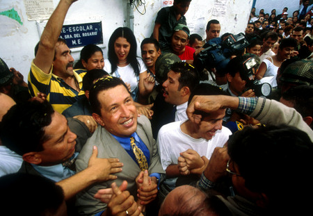 Hugo Chavez, election day. Caracas, Venezuela.