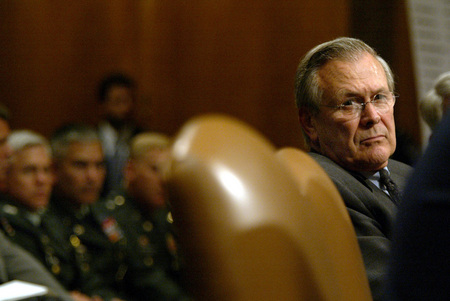 Secretary of DefenseDonald Rumsfeld