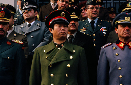 Military attaches at the Argentine military day parade. Buenos Aires, Argentina.